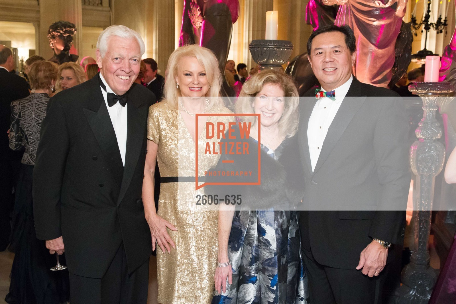 Bob Friese, Chandra Friese, Celeste Woo, Darryl Woo, An Evening on the Stage Honoring Renaissance Man Gordon Getty, War Memorial Opera House. 301 Van Ness Ave, December 7th, 2015,Drew Altizer, Drew Altizer Photography, full-service agency, private events, San Francisco photographer, photographer california