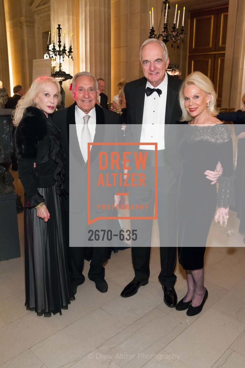 Judith Renard, John Renard, Ike Millstein, Sandra Farris, An Evening on the Stage Honoring Renaissance Man Gordon Getty, War Memorial Opera House. 301 Van Ness Ave, December 7th, 2015,Drew Altizer, Drew Altizer Photography, full-service agency, private events, San Francisco photographer, photographer california