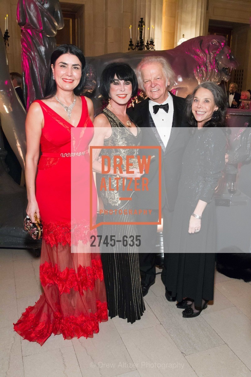 Afsaneh Akhtari, Marilyn Cabak, Michael Cabak, Julie Coplon, An Evening on the Stage Honoring Renaissance Man Gordon Getty, War Memorial Opera House. 301 Van Ness Ave, December 7th, 2015,Drew Altizer, Drew Altizer Photography, full-service event agency, private events, San Francisco photographer, photographer California