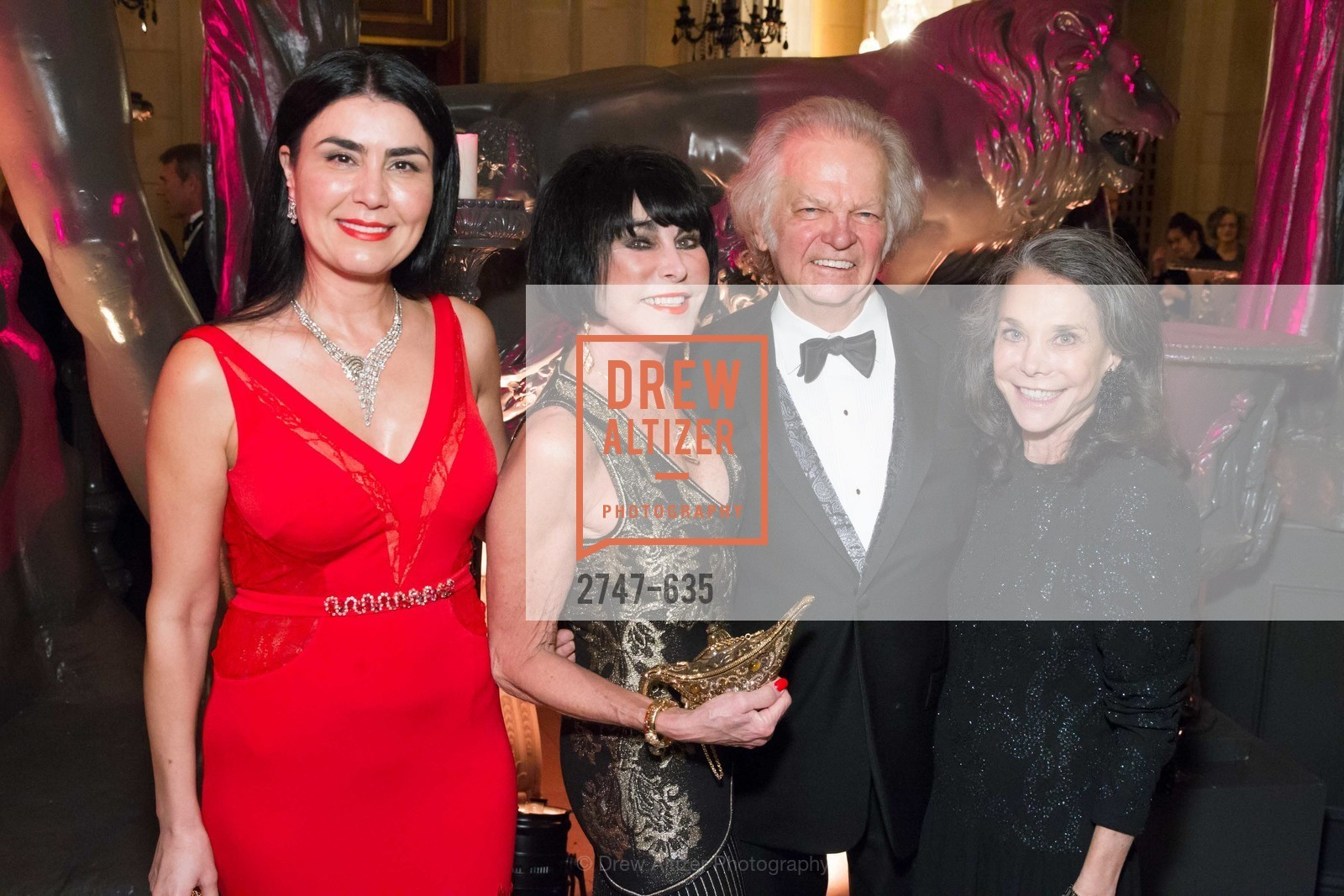 Afsaneh Akhtari, Marilyn Cabak, Michael Cabak, Julie Coplon, An Evening on the Stage Honoring Renaissance Man Gordon Getty, War Memorial Opera House. 301 Van Ness Ave, December 7th, 2015,Drew Altizer, Drew Altizer Photography, full-service agency, private events, San Francisco photographer, photographer california