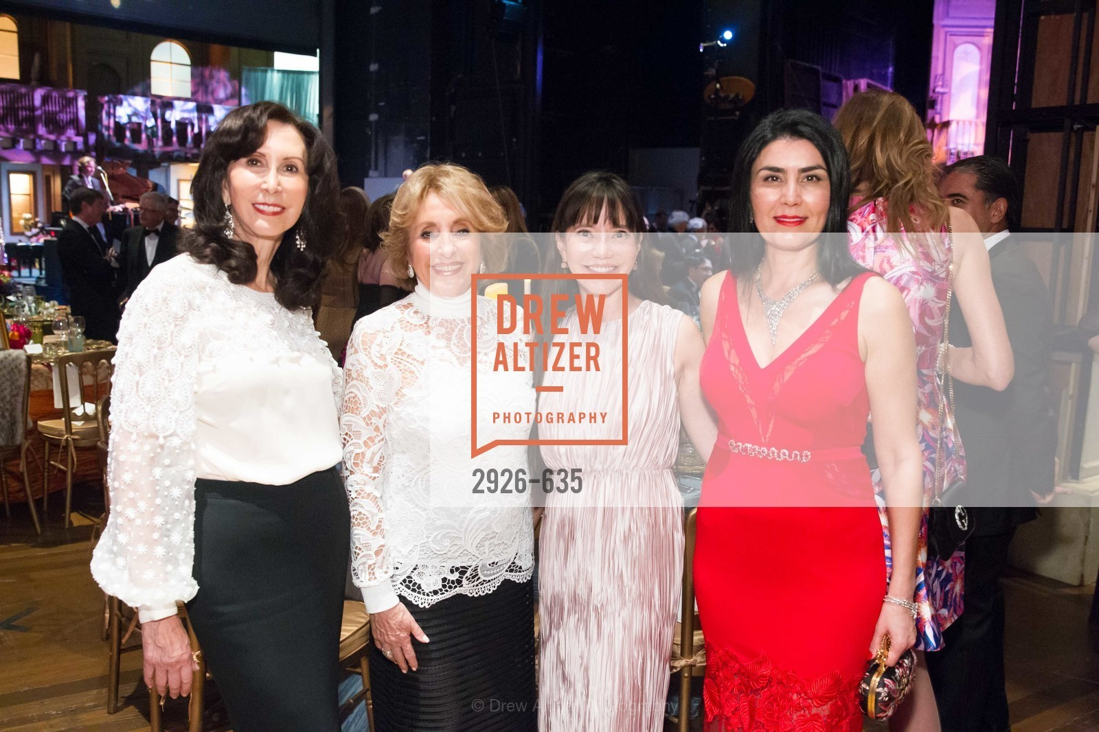 Carolyn Chandler, Nazan Orr, France Szeto, Afsaneh Akhtari, An Evening on the Stage Honoring Renaissance Man Gordon Getty, War Memorial Opera House. 301 Van Ness Ave, December 7th, 2015,Drew Altizer, Drew Altizer Photography, full-service agency, private events, San Francisco photographer, photographer california