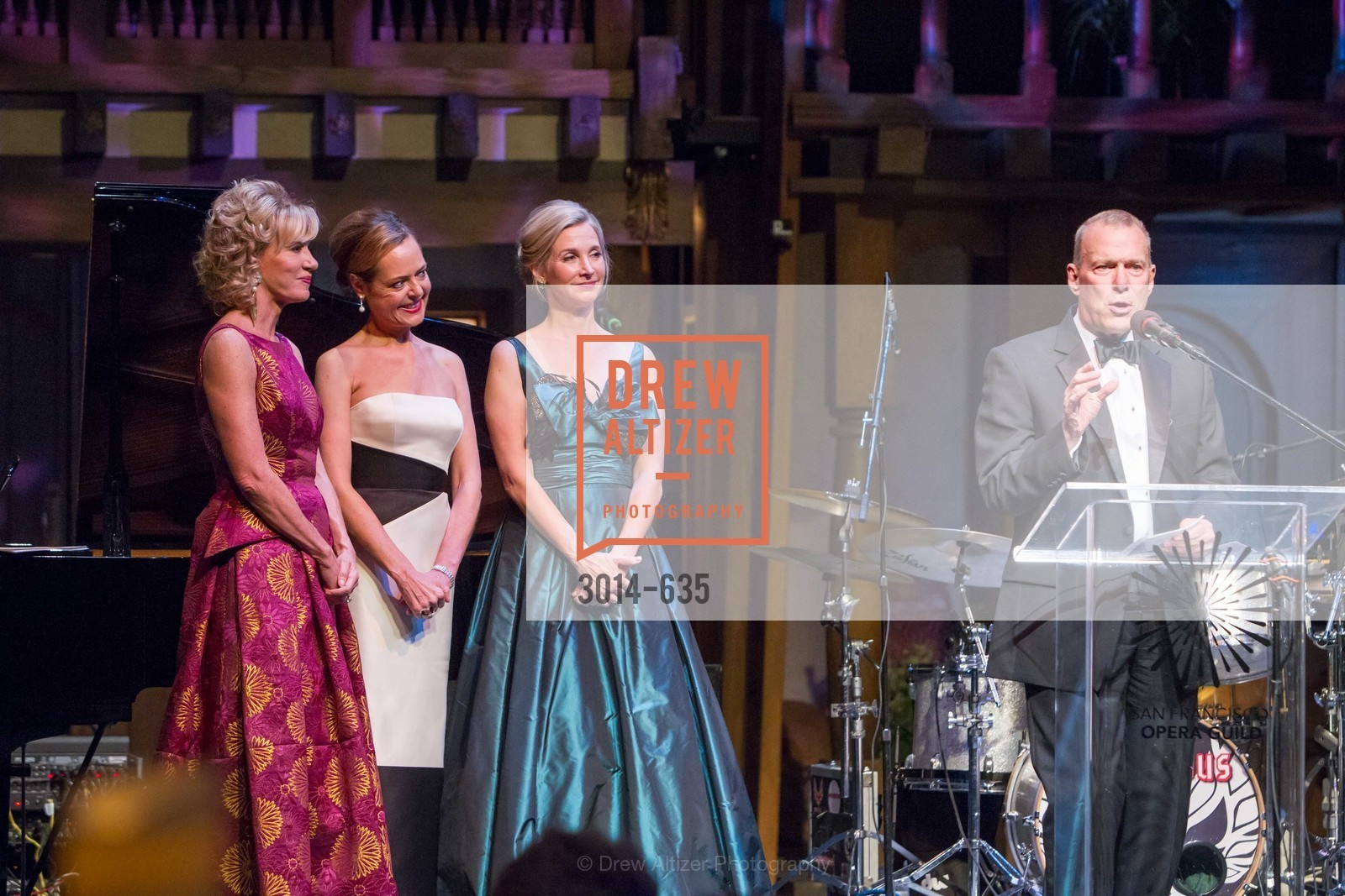 Mary Poland, Charlot Malin, Courtney Labe, David Gockley, An Evening on the Stage Honoring Renaissance Man Gordon Getty, War Memorial Opera House. 301 Van Ness Ave, December 7th, 2015,Drew Altizer, Drew Altizer Photography, full-service agency, private events, San Francisco photographer, photographer california