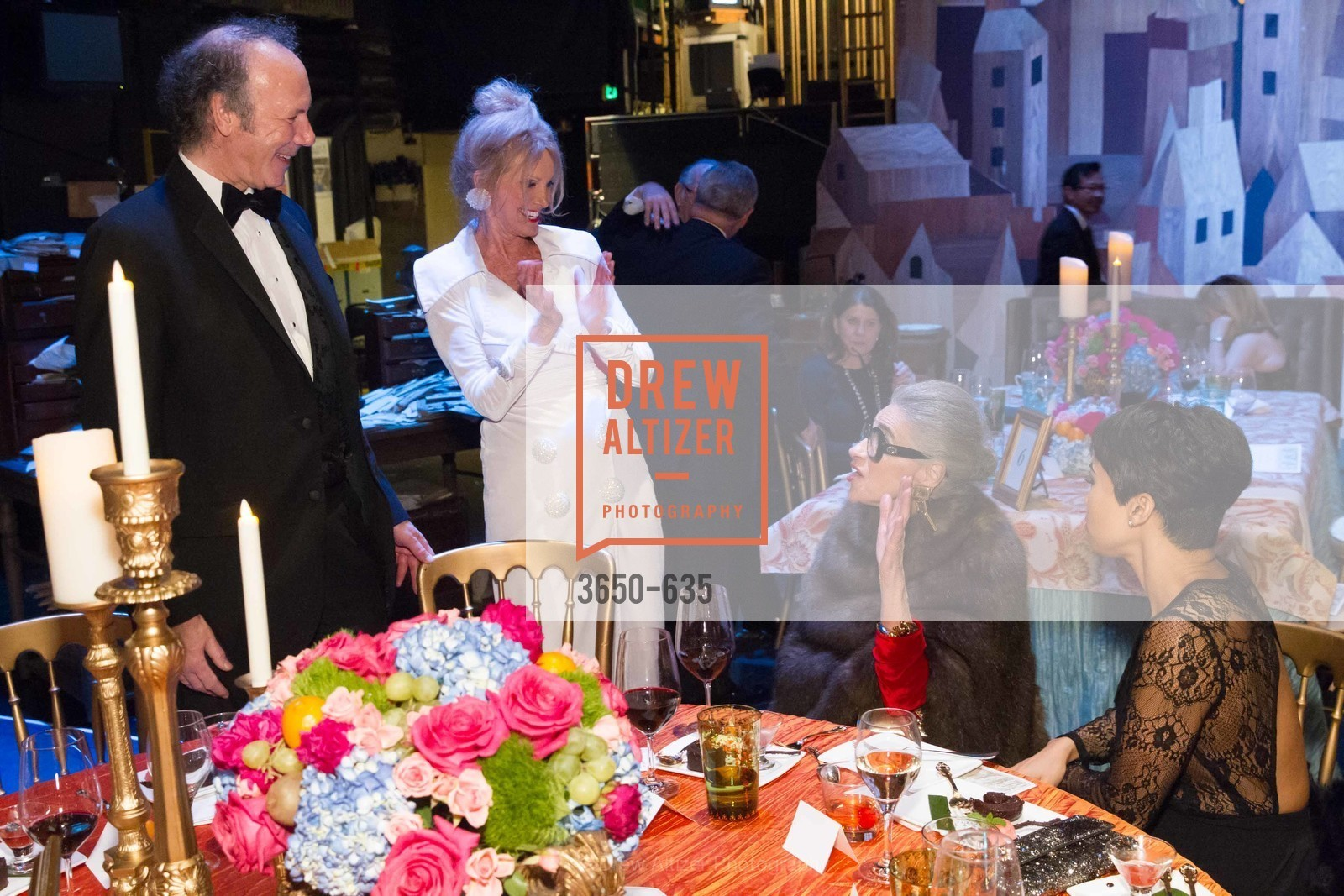 Tom Barrett, Belinda Berry, Joy Venturini Bianchi, An Evening on the Stage Honoring Renaissance Man Gordon Getty, War Memorial Opera House. 301 Van Ness Ave, December 7th, 2015,Drew Altizer, Drew Altizer Photography, full-service agency, private events, San Francisco photographer, photographer california
