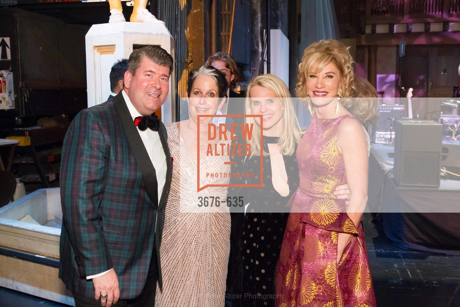 Alan Morrell, Karen Kubin, Jane Mudge, Mary Poland, An Evening on the Stage Honoring Renaissance Man Gordon Getty, War Memorial Opera House. 301 Van Ness Ave, December 7th, 2015,Drew Altizer, Drew Altizer Photography, full-service agency, private events, San Francisco photographer, photographer california