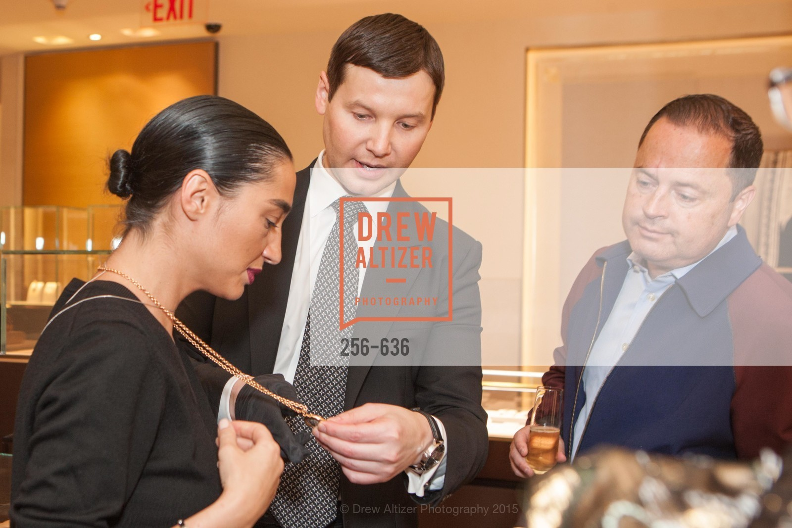 Olya Dzilikhova, Ivan Bekichev, Edward Dubrovsky, Bulgari San Francisco Presents WINE, WHISKEY & WATCHES, Bulgari San Francisco. 200 Stockton Street, December 8th, 2015,Drew Altizer, Drew Altizer Photography, full-service agency, private events, San Francisco photographer, photographer california