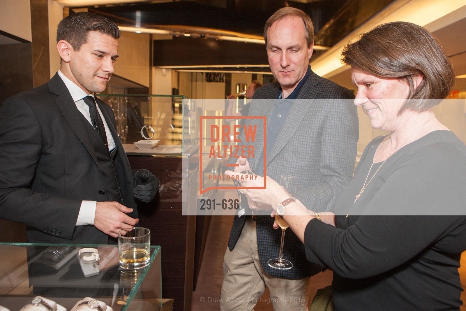Salvatore Scotto, Jared Wilson, Melanie Wilson, Bulgari San Francisco Presents WINE, WHISKEY & WATCHES, Bulgari San Francisco. 200 Stockton Street, December 8th, 2015,Drew Altizer, Drew Altizer Photography, full-service event agency, private events, San Francisco photographer, photographer California
