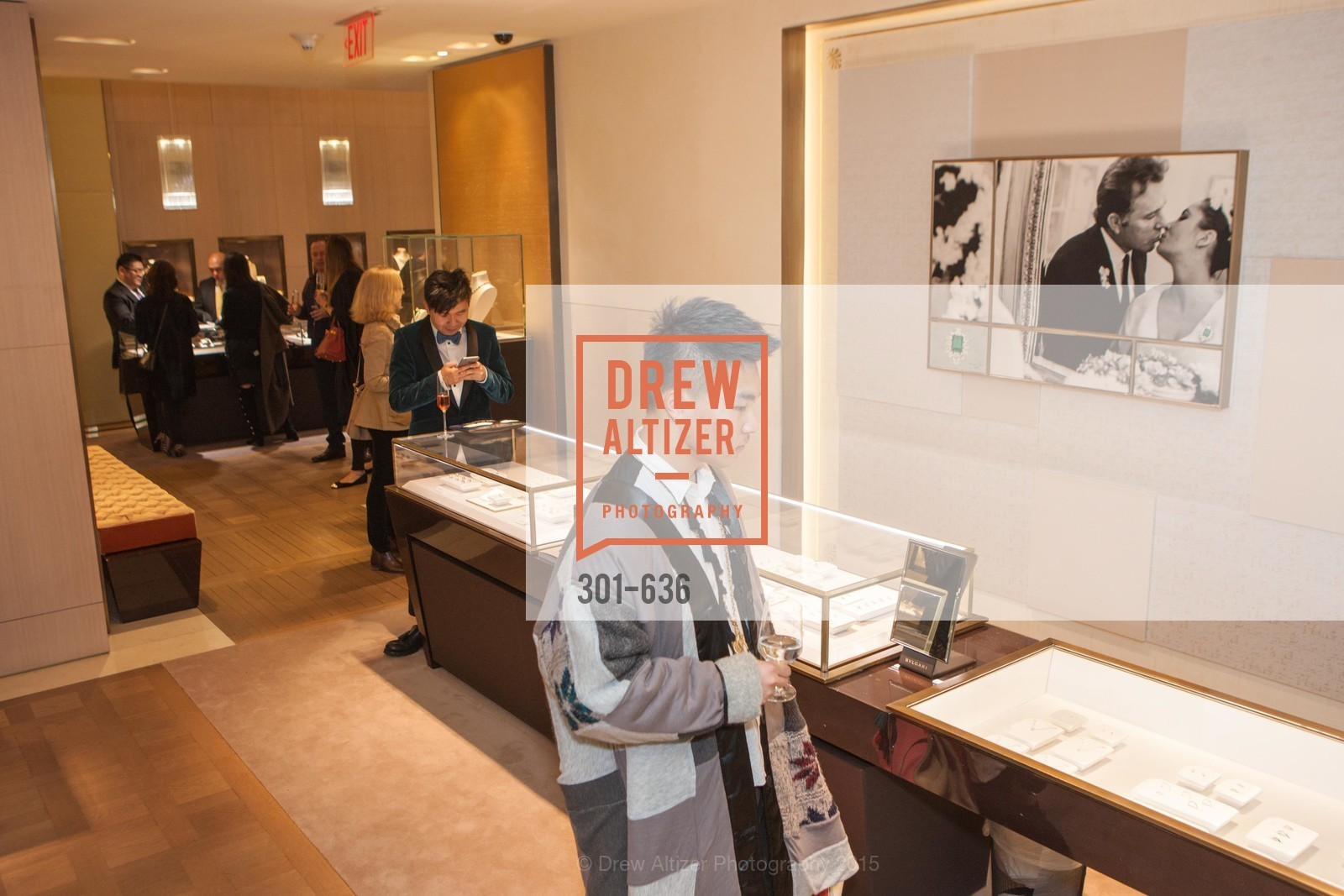 Keyuan Vhao, Bulgari San Francisco Presents WINE, WHISKEY & WATCHES, Bulgari San Francisco. 200 Stockton Street, December 8th, 2015,Drew Altizer, Drew Altizer Photography, full-service agency, private events, San Francisco photographer, photographer california