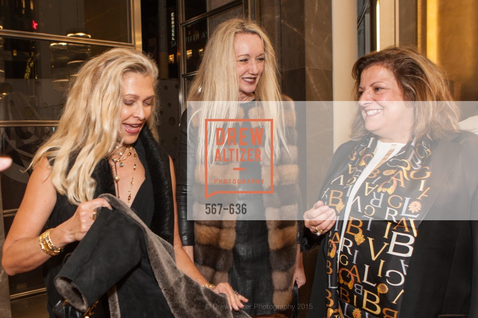Suzanna Jackson, Dorothy Torresi, Laura Albini, Bulgari San Francisco Presents WINE, WHISKEY & WATCHES, Bulgari San Francisco. 200 Stockton Street, December 8th, 2015,Drew Altizer, Drew Altizer Photography, full-service agency, private events, San Francisco photographer, photographer california