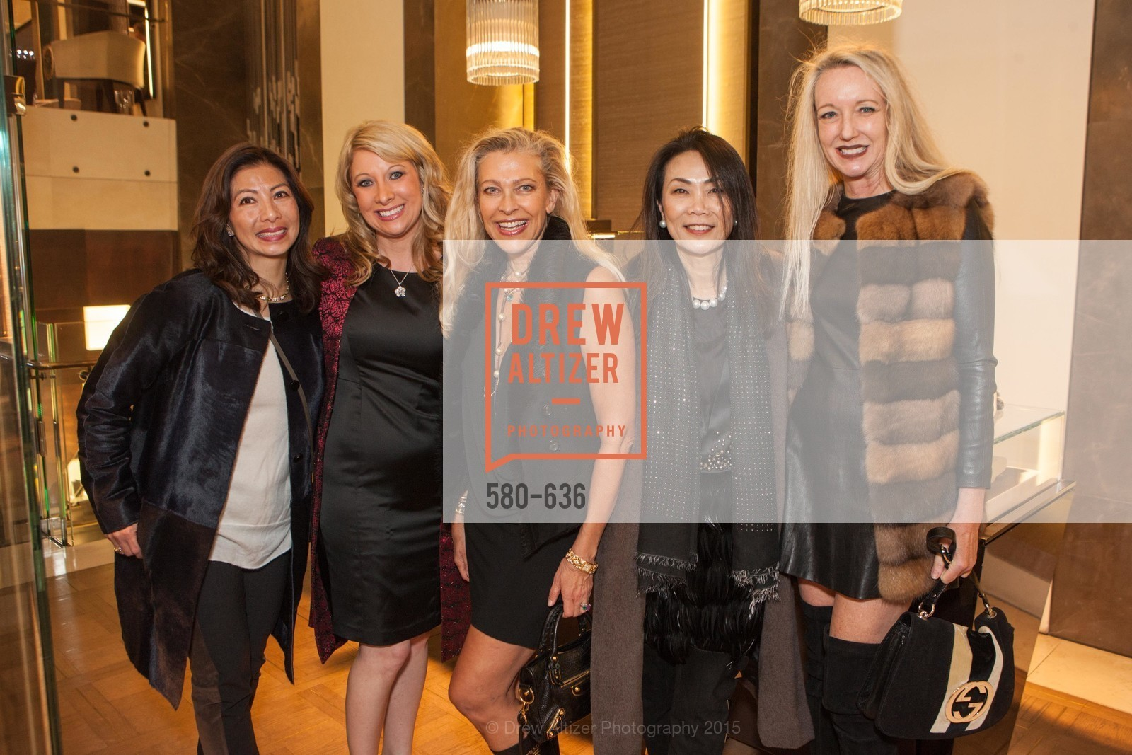 MIchelle Tai, Jennifer Mancuso, Suzanna Jackson, Xiaojun Lee, Dorothy Torresi, Bulgari San Francisco Presents WINE, WHISKEY & WATCHES, Bulgari San Francisco. 200 Stockton Street, December 8th, 2015,Drew Altizer, Drew Altizer Photography, full-service agency, private events, San Francisco photographer, photographer california