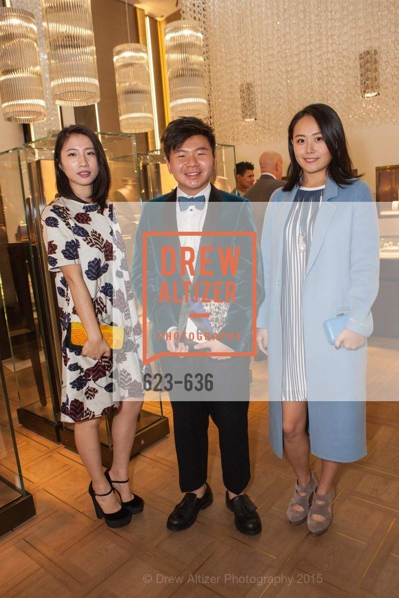 Youran Han, Arnold Sin, Joanne Lu, Bulgari San Francisco Presents WINE, WHISKEY & WATCHES, Bulgari San Francisco. 200 Stockton Street, December 8th, 2015,Drew Altizer, Drew Altizer Photography, full-service event agency, private events, San Francisco photographer, photographer California