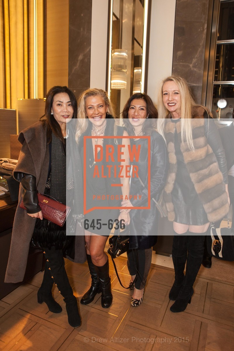 Xiaojun Lee, Suzanna Jackson, MIchelle Tai, Dorothy Torresi, Bulgari San Francisco Presents WINE, WHISKEY & WATCHES, Bulgari San Francisco. 200 Stockton Street, December 8th, 2015,Drew Altizer, Drew Altizer Photography, full-service agency, private events, San Francisco photographer, photographer california