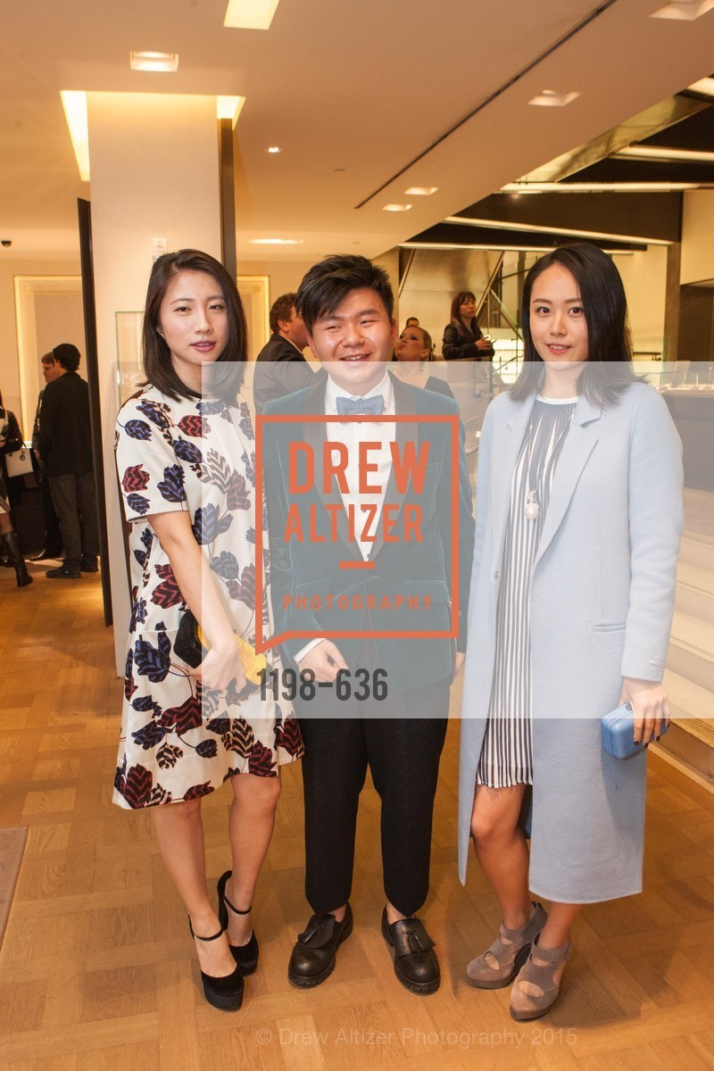 Youran Han, Arnold Sin, Joanne Lu, Bulgari San Francisco Presents WINE, WHISKEY & WATCHES, Bulgari San Francisco. 200 Stockton Street, December 8th, 2015,Drew Altizer, Drew Altizer Photography, full-service agency, private events, San Francisco photographer, photographer california