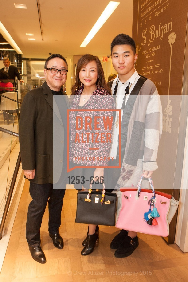 Francis Wong, Janet Wong, Keyuan Vhao, Bulgari San Francisco Presents WINE, WHISKEY & WATCHES, Bulgari San Francisco. 200 Stockton Street, December 8th, 2015,Drew Altizer, Drew Altizer Photography, full-service agency, private events, San Francisco photographer, photographer california