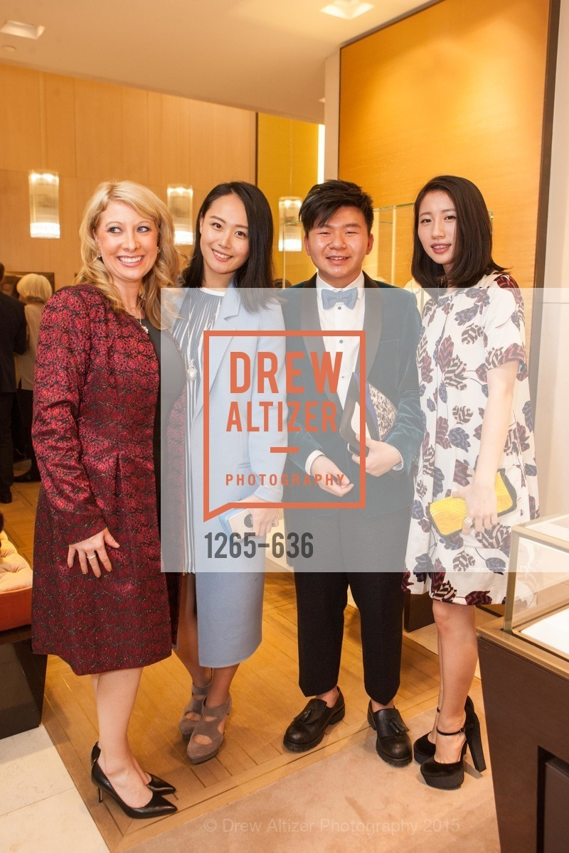 Jennifer Mancuso, Joanne Lu, Arnold Sin, Youran Han, Bulgari San Francisco Presents WINE, WHISKEY & WATCHES, Bulgari San Francisco. 200 Stockton Street, December 8th, 2015,Drew Altizer, Drew Altizer Photography, full-service agency, private events, San Francisco photographer, photographer california