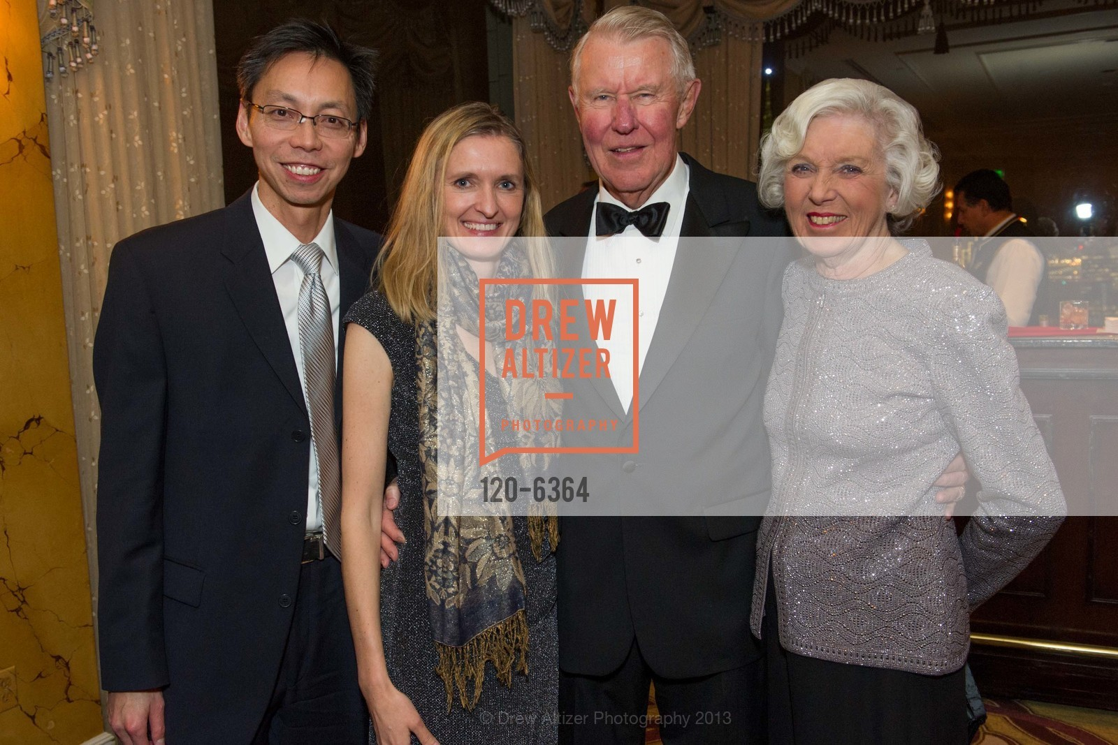 Peter Teng, Marzena Jurek, Norm Wallin, Katherine Wallin, 25th Anniversary Holiday HOB NOB ON THE HILL, US, December 6th, 2013,Drew Altizer, Drew Altizer Photography, full-service agency, private events, San Francisco photographer, photographer california