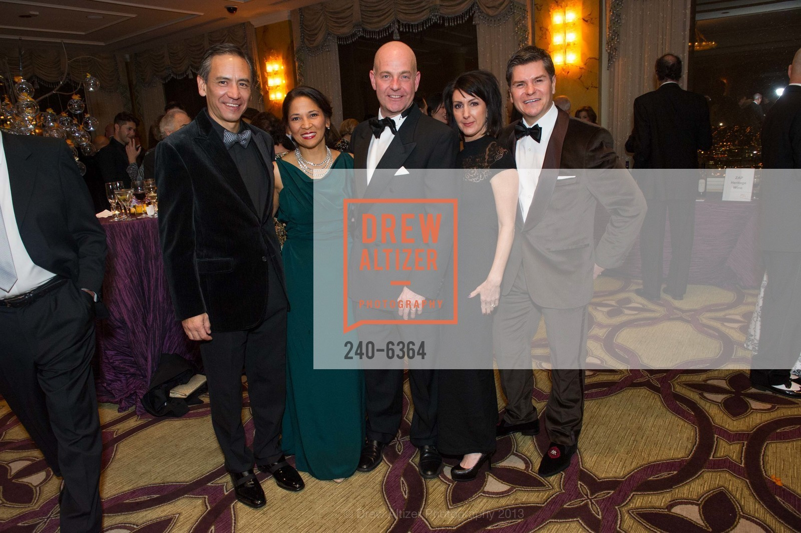 Charles Gee, Darlene Fong, Kevin Causey, Christine Gee, Chris Meza, 25th Anniversary Holiday HOB NOB ON THE HILL, US, December 6th, 2013,Drew Altizer, Drew Altizer Photography, full-service agency, private events, San Francisco photographer, photographer california