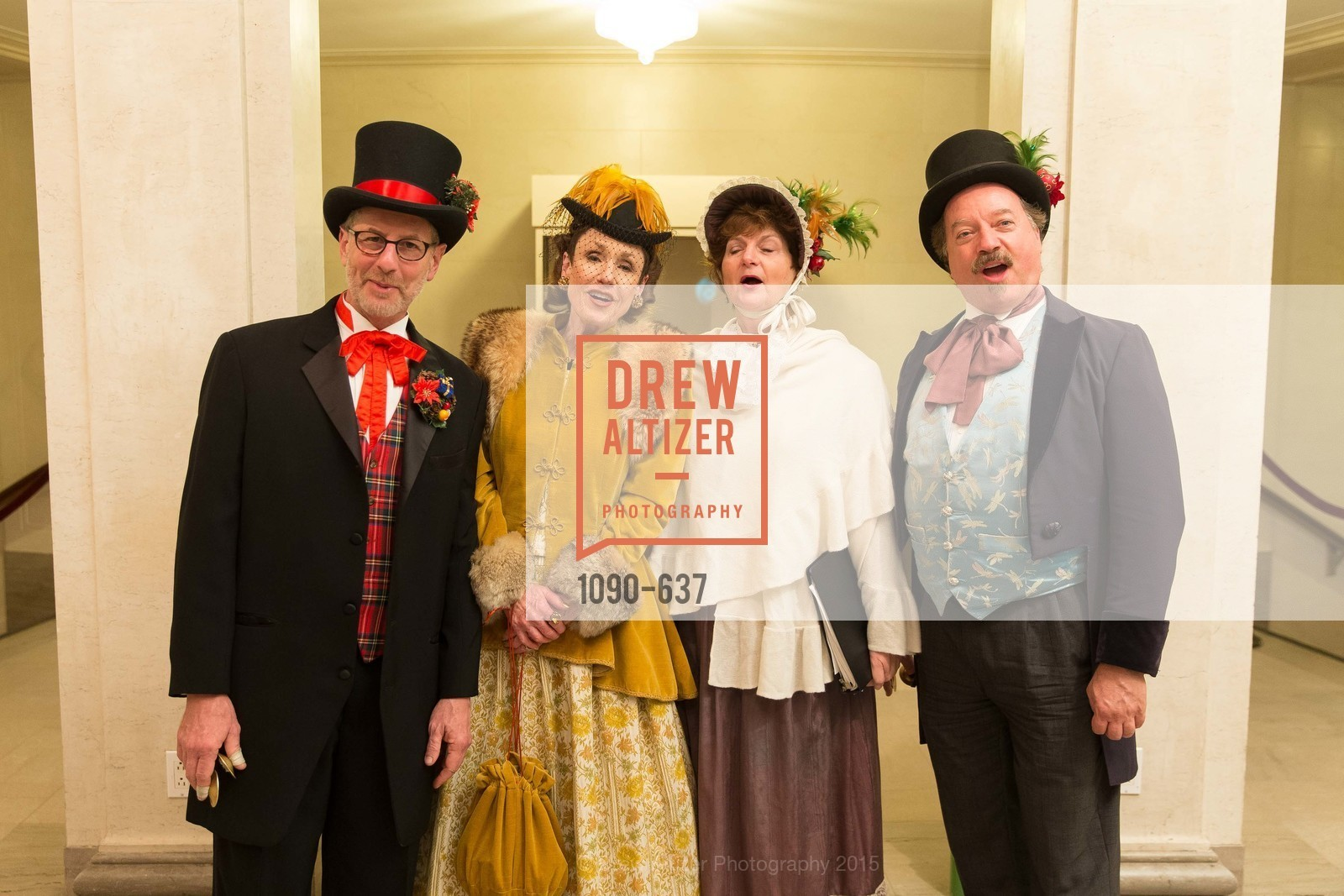 Christmas Carolers, AN ELEGANT EVENING Presented by the Fine Arts Museums of San Francisco, Legion of Honor, Court of Honor. 100 34th Ave, December 8th, 2015,Drew Altizer, Drew Altizer Photography, full-service agency, private events, San Francisco photographer, photographer california