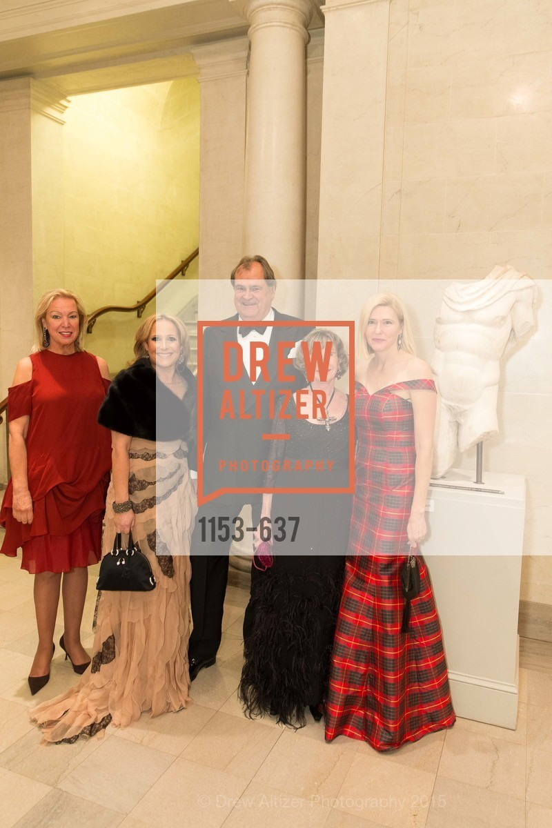 Lauren Hall, Lucy Hamilton, William Hamilton, Lorre Erlick, Jan Niemi, AN ELEGANT EVENING Presented by the Fine Arts Museums of San Francisco, Legion of Honor, Court of Honor. 100 34th Ave, December 8th, 2015,Drew Altizer, Drew Altizer Photography, full-service agency, private events, San Francisco photographer, photographer california