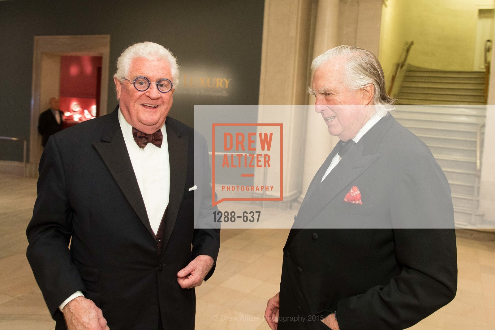 Bob Hill, Clarke Swanson, AN ELEGANT EVENING Presented by the Fine Arts Museums of San Francisco, Legion of Honor, Court of Honor. 100 34th Ave, December 8th, 2015,Drew Altizer, Drew Altizer Photography, full-service agency, private events, San Francisco photographer, photographer california