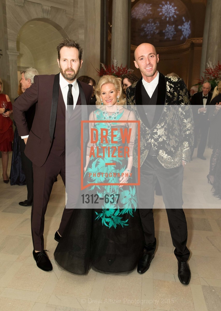 Paolo Cigognini, Dede Wilsey, Valerio D'Ambrosio, AN ELEGANT EVENING Presented by the Fine Arts Museums of San Francisco, Legion of Honor, Court of Honor. 100 34th Ave, December 8th, 2015,Drew Altizer, Drew Altizer Photography, full-service agency, private events, San Francisco photographer, photographer california