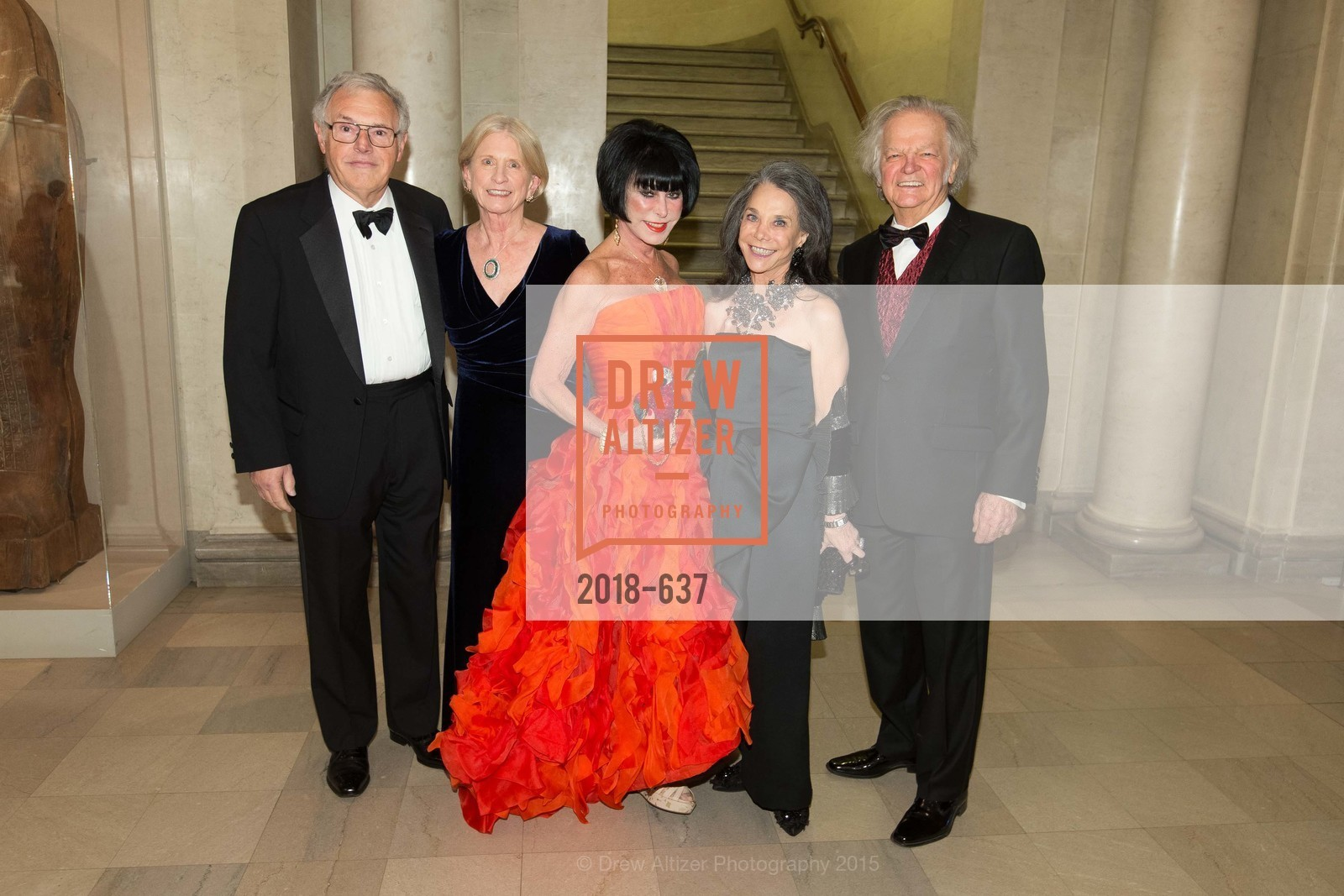 John Lavorgna, Joan Lavorgna, Marilyn Cabak, Julie Coplon, Michael Cabak, AN ELEGANT EVENING Presented by the Fine Arts Museums of San Francisco, Legion of Honor, Court of Honor. 100 34th Ave, December 8th, 2015,Drew Altizer, Drew Altizer Photography, full-service agency, private events, San Francisco photographer, photographer california