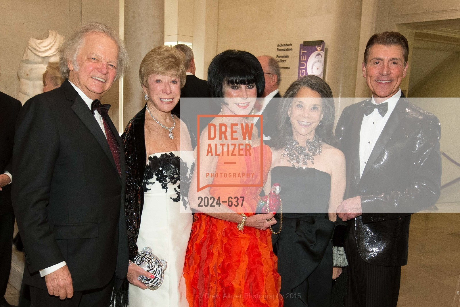 Michael Cabak, Maria Pitcairn, Marilyn Cabak, Julie Coplon, Robert Beadle, AN ELEGANT EVENING Presented by the Fine Arts Museums of San Francisco, Legion of Honor, Court of Honor. 100 34th Ave, December 8th, 2015,Drew Altizer, Drew Altizer Photography, full-service agency, private events, San Francisco photographer, photographer california