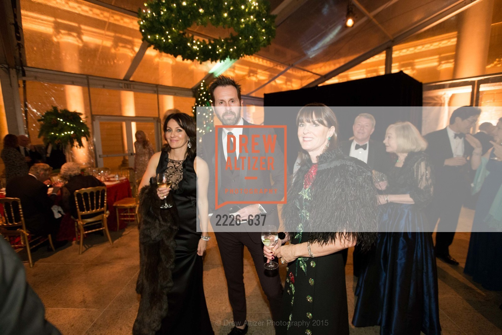 Beth Grossman, Paolo Cigognini, Allison Speer, AN ELEGANT EVENING Presented by the Fine Arts Museums of San Francisco, Legion of Honor, Court of Honor. 100 34th Ave, December 8th, 2015,Drew Altizer, Drew Altizer Photography, full-service agency, private events, San Francisco photographer, photographer california