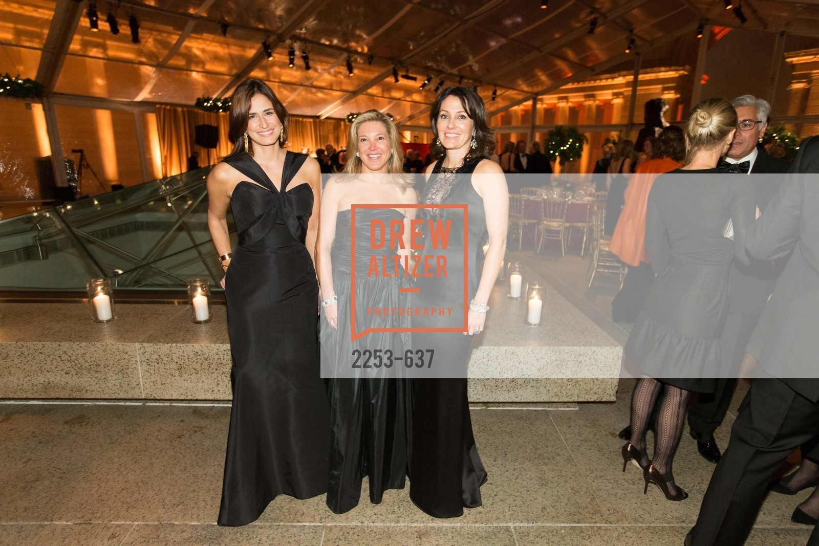 Amy Mcknight, Kathryn Lasater, Beth Grossman, AN ELEGANT EVENING Presented by the Fine Arts Museums of San Francisco, Legion of Honor, Court of Honor. 100 34th Ave, December 8th, 2015,Drew Altizer, Drew Altizer Photography, full-service agency, private events, San Francisco photographer, photographer california