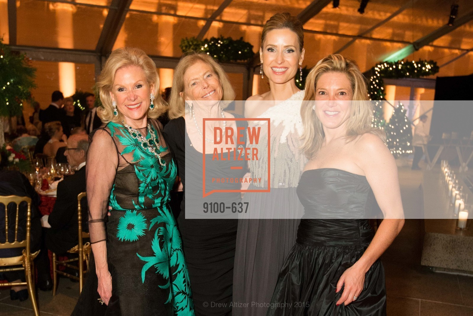 Dede Wilsey, Marion Cope, Kate Harbin Clammer, Kathryn Lasater, AN ELEGANT EVENING Presented by the Fine Arts Museums of San Francisco, Legion of Honor, Court of Honor. 100 34th Ave, December 8th, 2015,Drew Altizer, Drew Altizer Photography, full-service agency, private events, San Francisco photographer, photographer california