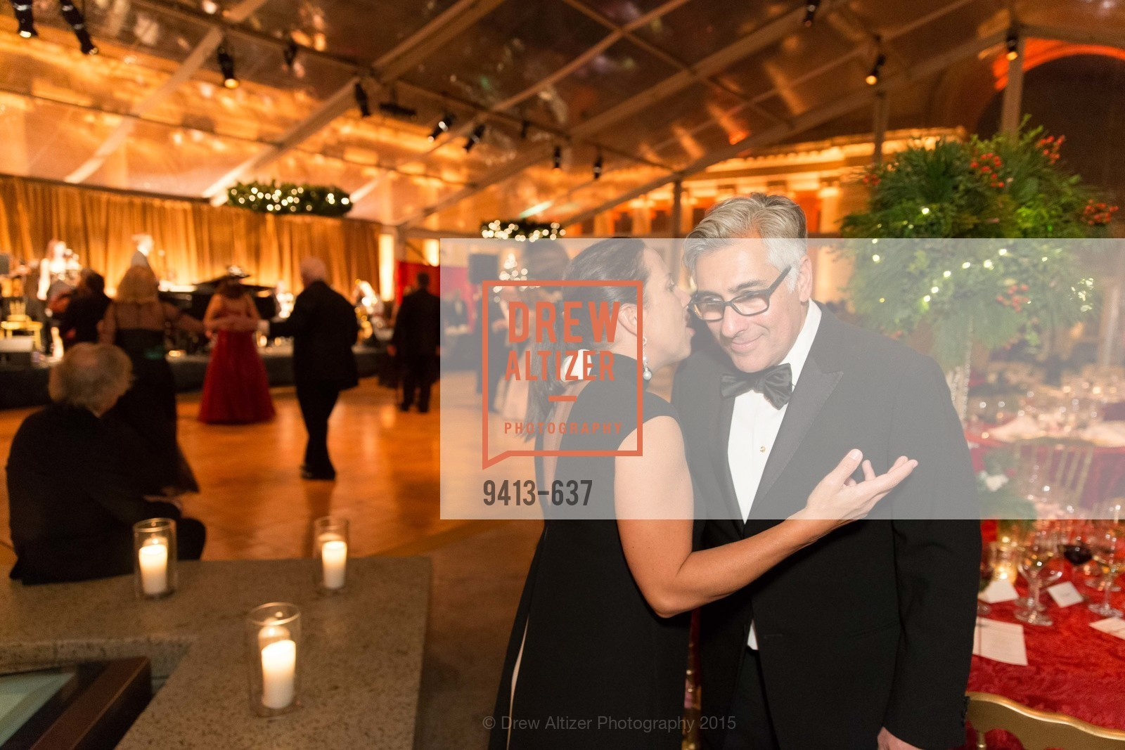 Eleni Tsakopoulos Kounalakis, David Shimmon, AN ELEGANT EVENING Presented by the Fine Arts Museums of San Francisco, Legion of Honor, Court of Honor. 100 34th Ave, December 8th, 2015,Drew Altizer, Drew Altizer Photography, full-service agency, private events, San Francisco photographer, photographer california