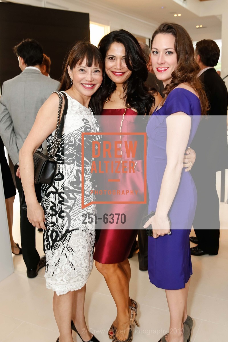 France Szeto, Mai Shiver, Maggie Stack King, OPERA GALA Patrons Party, US, August 28th, 2013