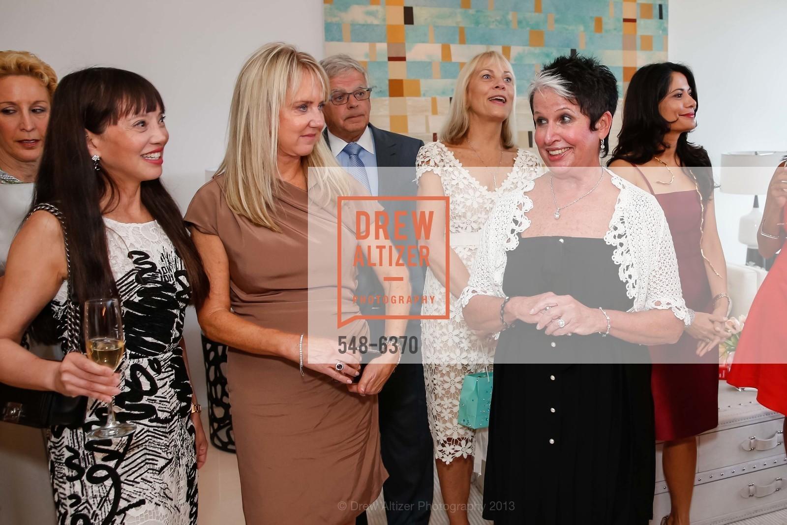 France Szeto, Carolyn Stuart, Karen Kubin, OPERA GALA Patrons Party, US, August 28th, 2013