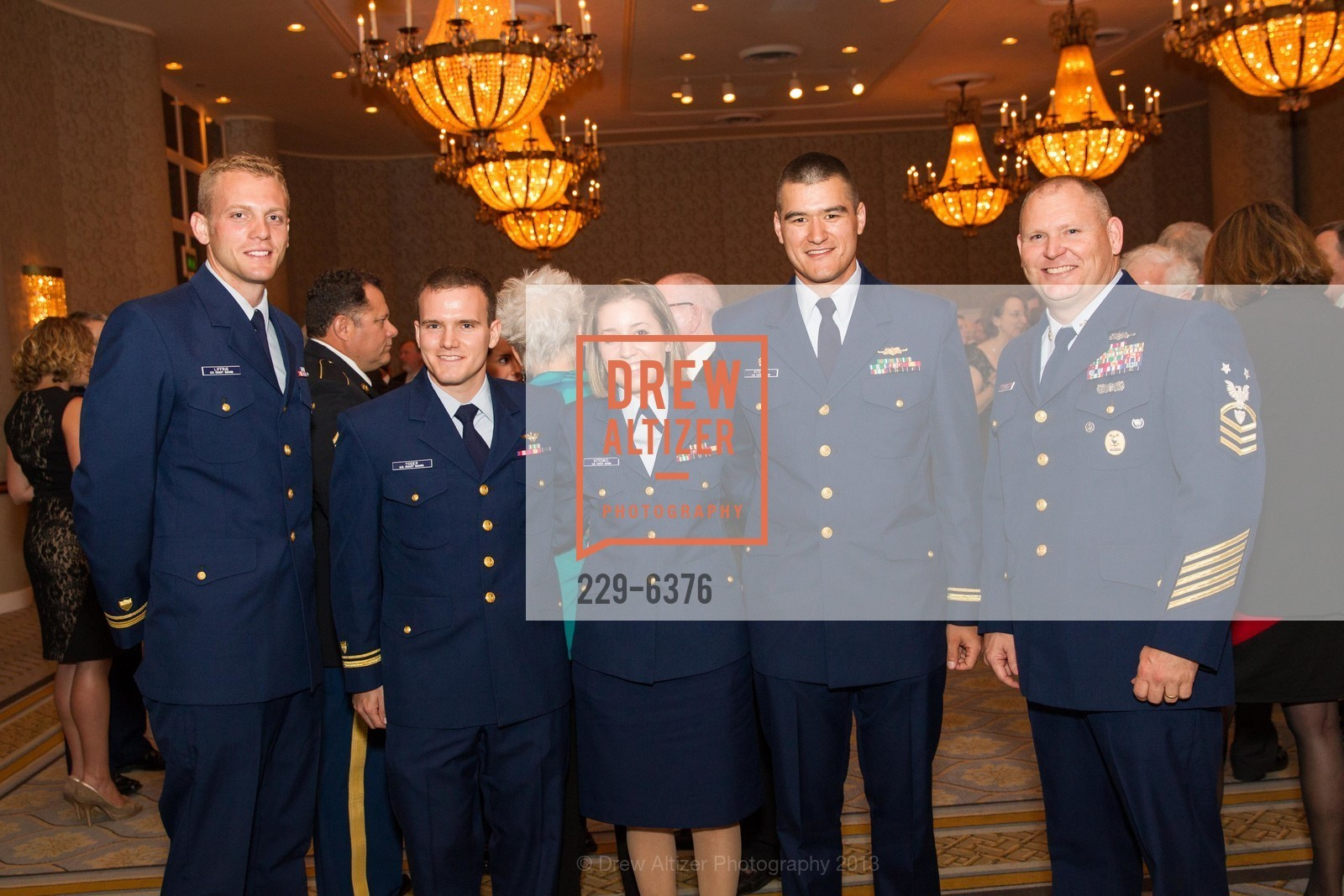 Joseph Liffrig, Rory Yoder, JG Joshua Kitenko, COAST GUARD FOUNDATION Presents Pacific Awards Dinner, US, April 25th, 2013