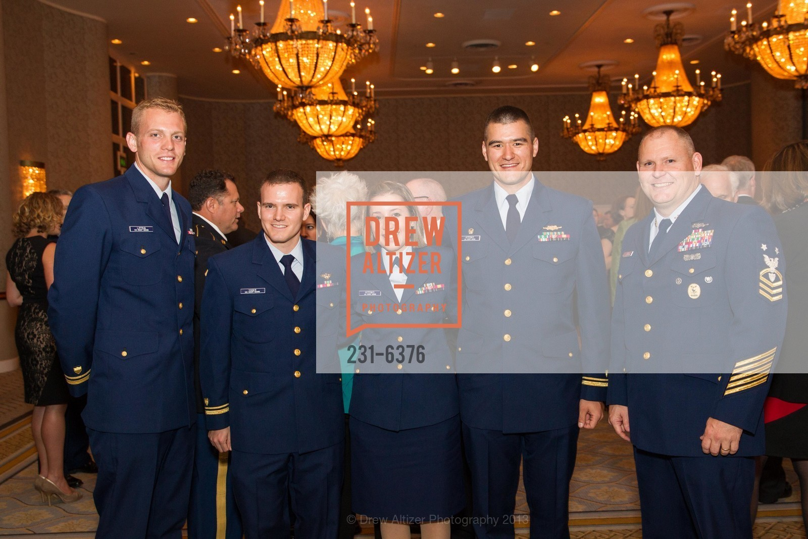 Joseph Liffrig, Rory Yoder, Noelle Kitenko, JG Joshua Kitenko, Rob Bushey, COAST GUARD FOUNDATION Presents Pacific Awards Dinner, US, April 25th, 2013
