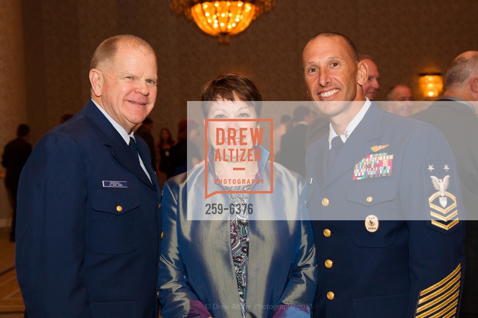 Robert Marshall, Lois Marshall, Mike Ferreria, COAST GUARD FOUNDATION Presents Pacific Awards Dinner, US, April 25th, 2013