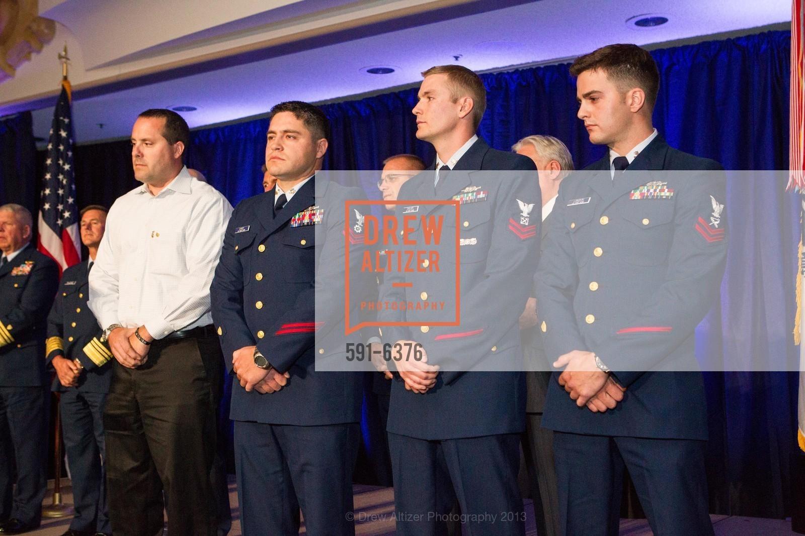 Sean Kuipers, Jonathan D'Arcy, Michael Walker, Brandon Langdon, COAST GUARD FOUNDATION Presents Pacific Awards Dinner, US, April 25th, 2013