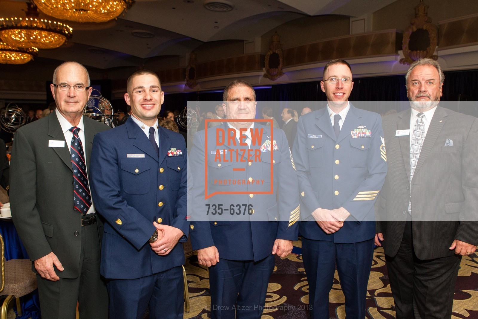 Jim Ferguson, Joshua Hedden, Michael Shank, Justin Bell, Angelo Cleffi, COAST GUARD FOUNDATION Presents Pacific Awards Dinner, US, April 25th, 2013