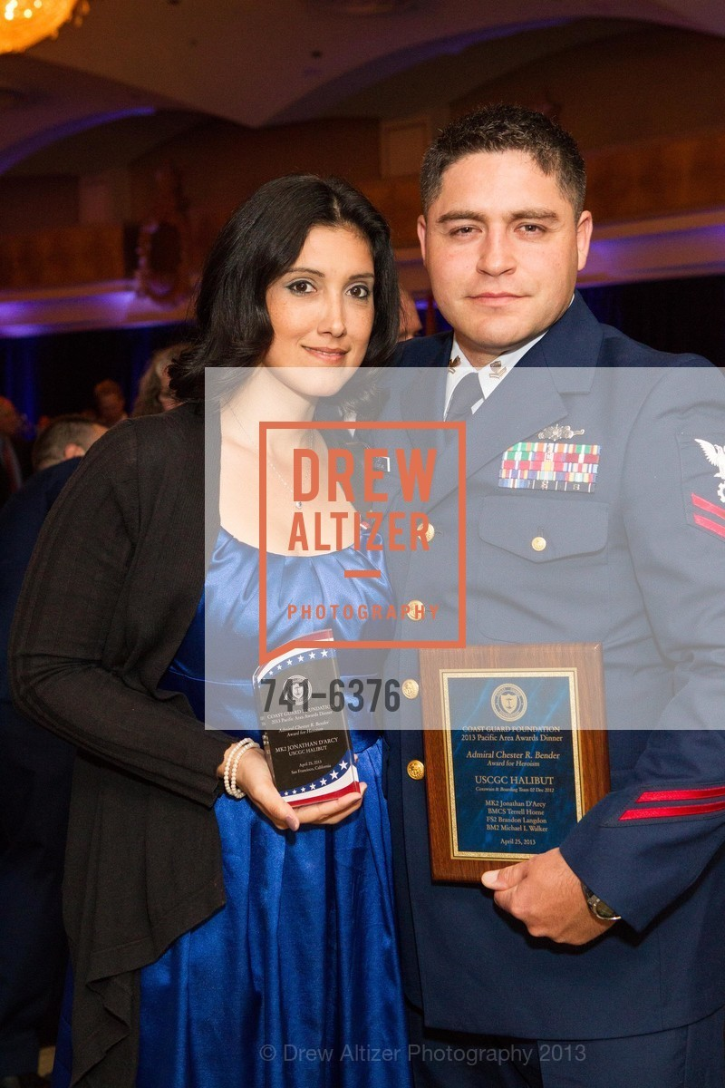 Ivi D'Arcy, Jonathan D'Arcy, COAST GUARD FOUNDATION Presents Pacific Awards Dinner, US, April 25th, 2013
