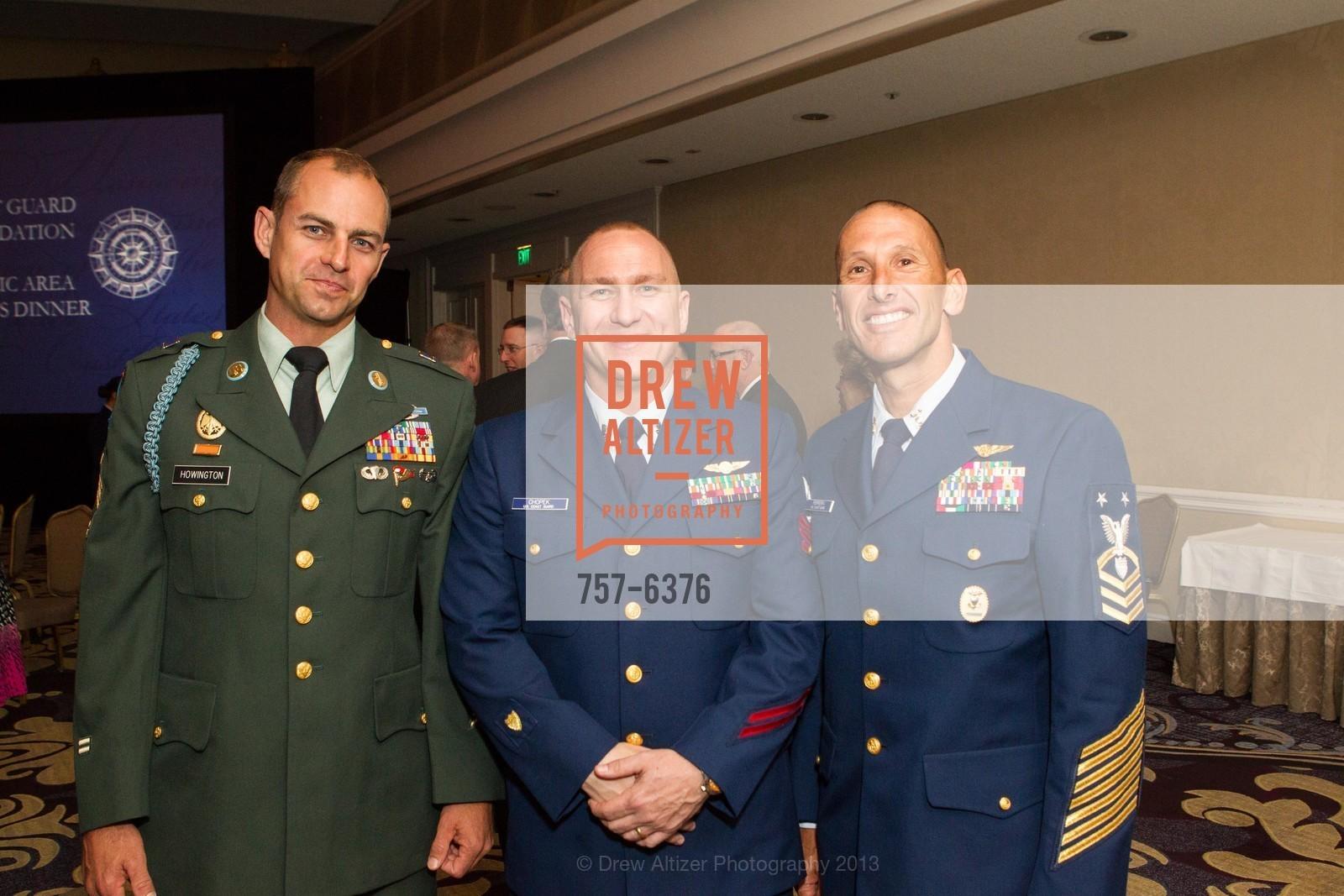 John Howington, Steve Chopek, Mike Ferreria, COAST GUARD FOUNDATION Presents Pacific Awards Dinner, US, April 25th, 2013