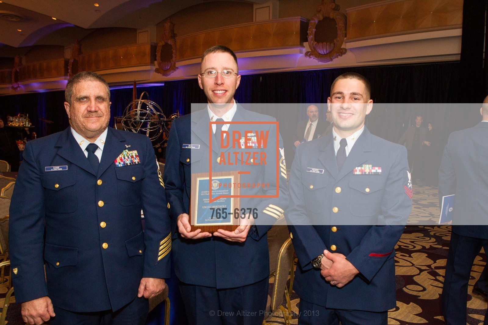 Michale Shank, Justin Bell, Joshua Hedden, COAST GUARD FOUNDATION Presents Pacific Awards Dinner, US, April 25th, 2013