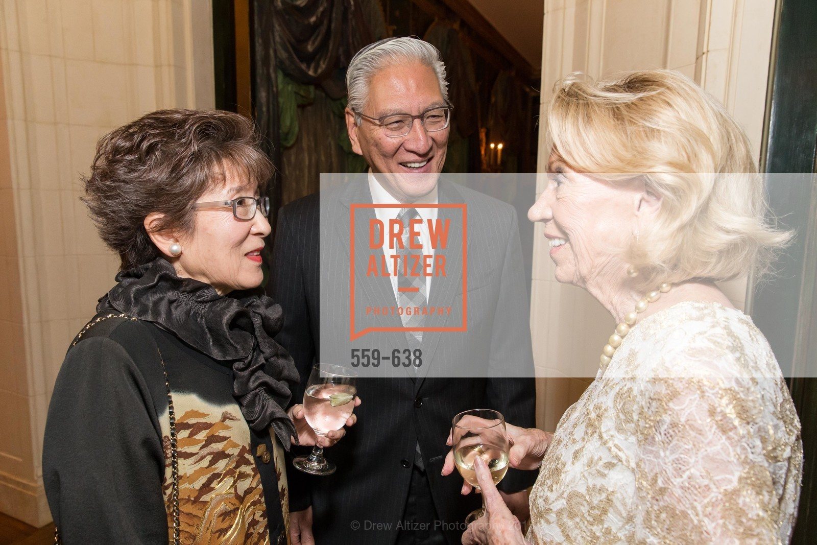 Patricia Okamoto, Allen Okamoto, Charlotte Shultz, San Francisco Mayor's Office of Protocol Christmas Party, Private Residence, December 9th, 2015,Drew Altizer, Drew Altizer Photography, full-service agency, private events, San Francisco photographer, photographer california