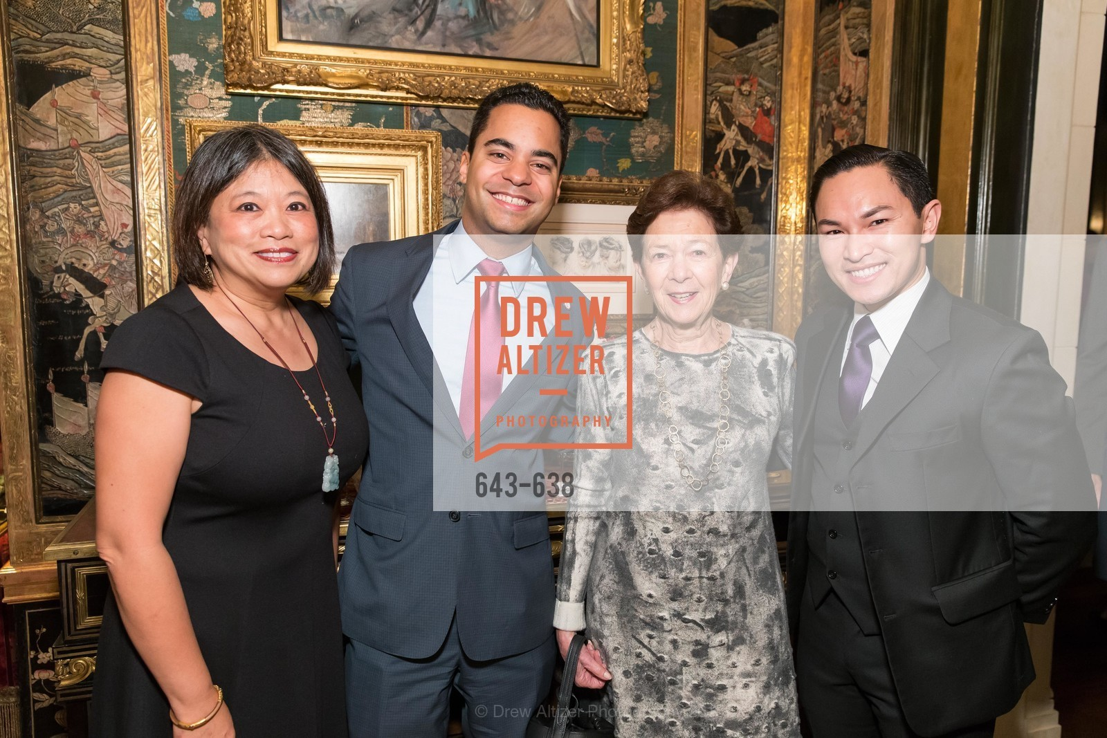 Sandra Lee Fewer, Alex Randolph, Roselyne Swig, Trevor Nguyen, San Francisco Mayor's Office of Protocol Christmas Party, Private Residence, December 9th, 2015,Drew Altizer, Drew Altizer Photography, full-service agency, private events, San Francisco photographer, photographer california