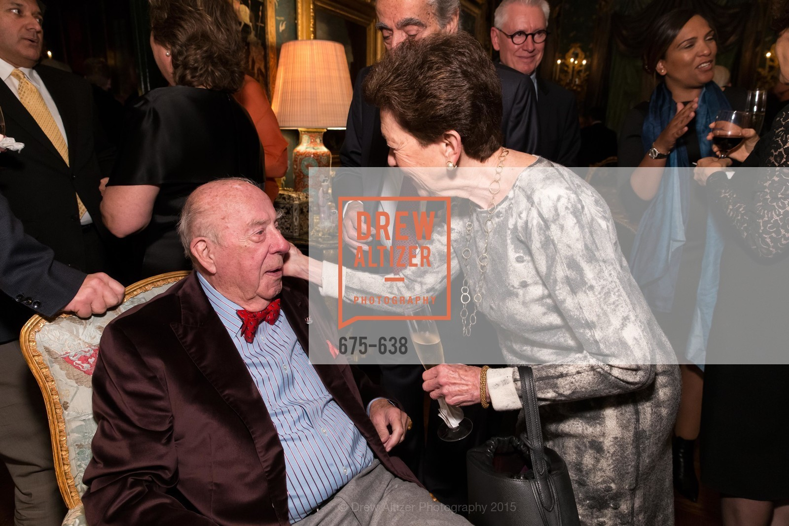George Shultz, Roselyne Swig, San Francisco Mayor's Office of Protocol Christmas Party, Private Residence, December 9th, 2015,Drew Altizer, Drew Altizer Photography, full-service agency, private events, San Francisco photographer, photographer california