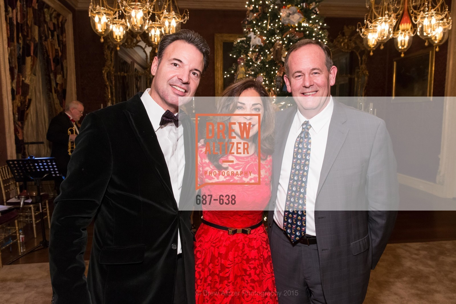 Miguel Valls, Farida Rezbani, Mark Chandler, San Francisco Mayor's Office of Protocol Christmas Party, Private Residence, December 9th, 2015
