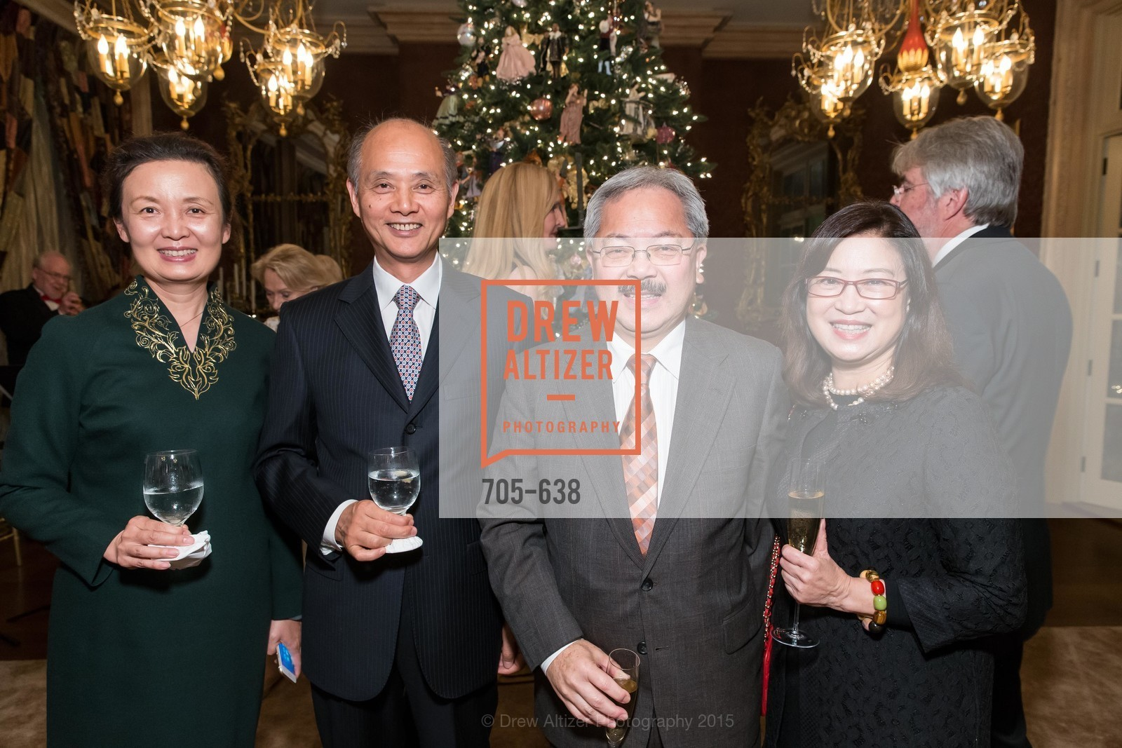 Qiao Li, Luolin Quan, Ed Lee, Anita Lee, San Francisco Mayor's Office of Protocol Christmas Party, Private Residence, December 9th, 2015,Drew Altizer, Drew Altizer Photography, full-service agency, private events, San Francisco photographer, photographer california