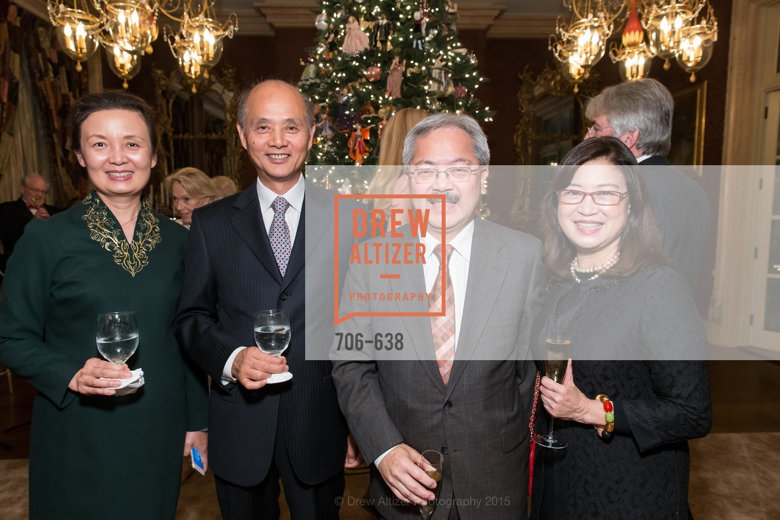Qiao Li, Luolin Quan, Ed Lee, Anita Lee, San Francisco Mayor's Office of Protocol Christmas Party, Private Residence, December 9th, 2015,Drew Altizer, Drew Altizer Photography, full-service event agency, private events, San Francisco photographer, photographer California