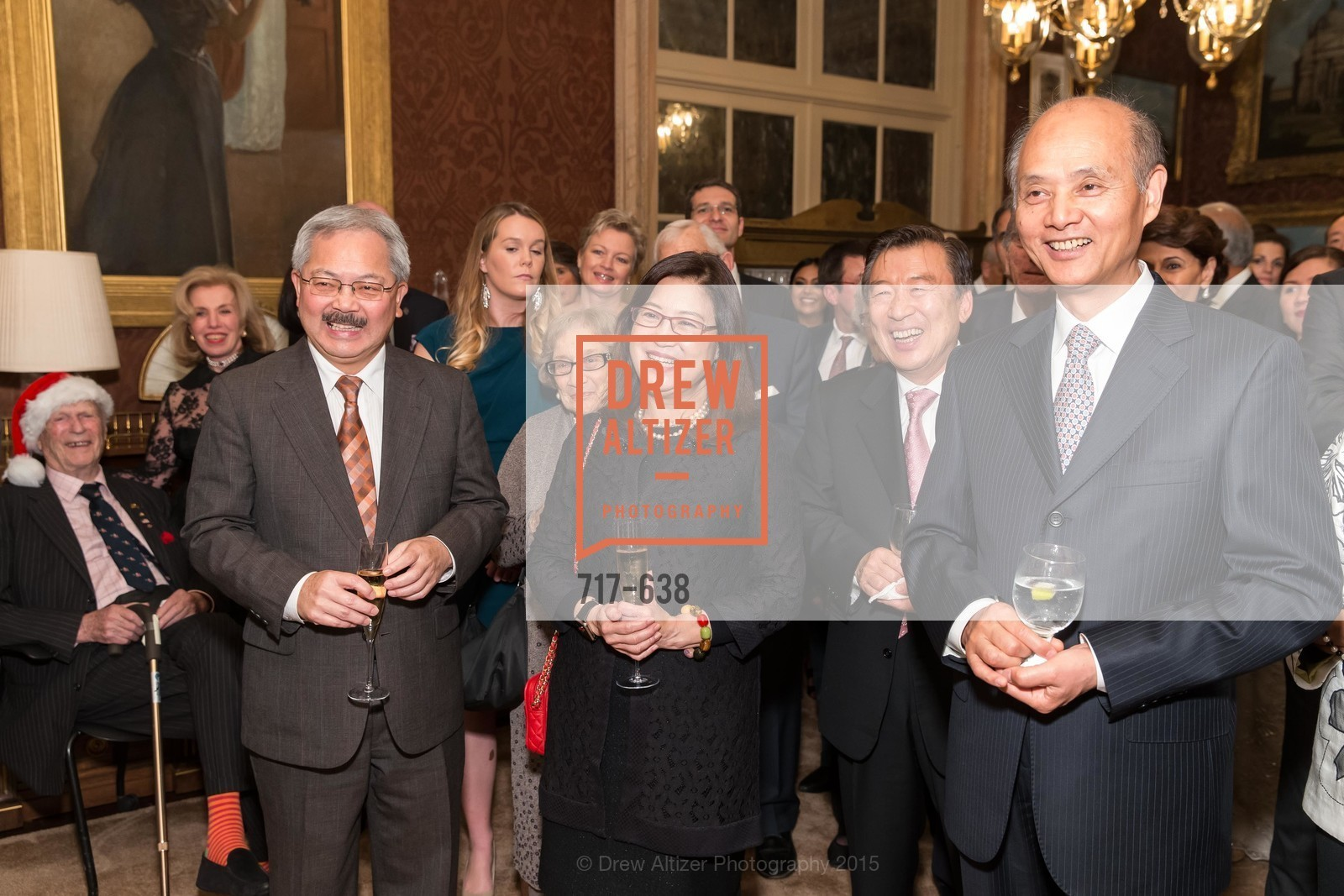 Ed Lee, Anita Lee, Luolin Quan, San Francisco Mayor's Office of Protocol Christmas Party, Private Residence, December 9th, 2015,Drew Altizer, Drew Altizer Photography, full-service agency, private events, San Francisco photographer, photographer california