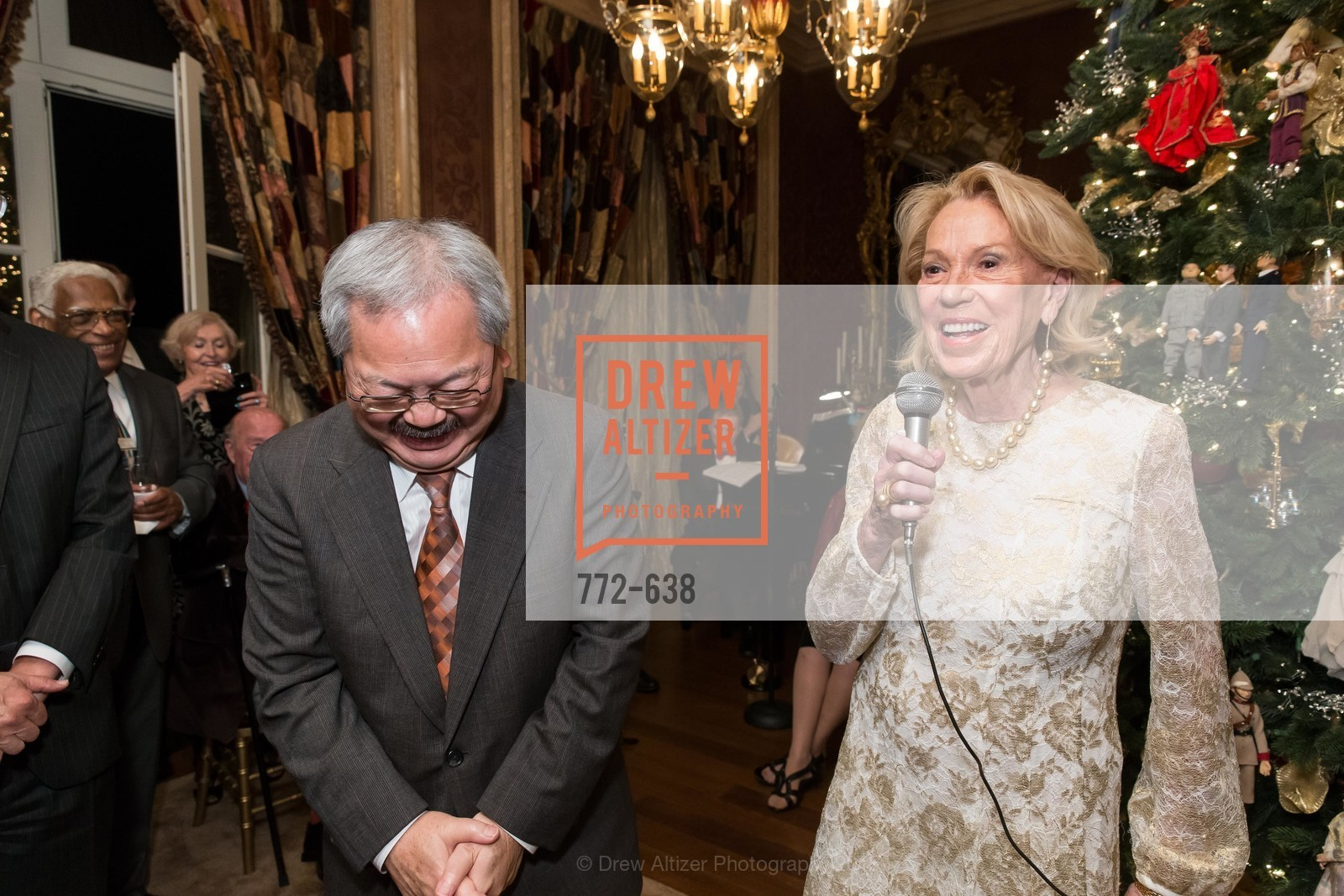 Ed Lee, Charlotte Shultz, San Francisco Mayor's Office of Protocol Christmas Party, Private Residence, December 9th, 2015,Drew Altizer, Drew Altizer Photography, full-service agency, private events, San Francisco photographer, photographer california