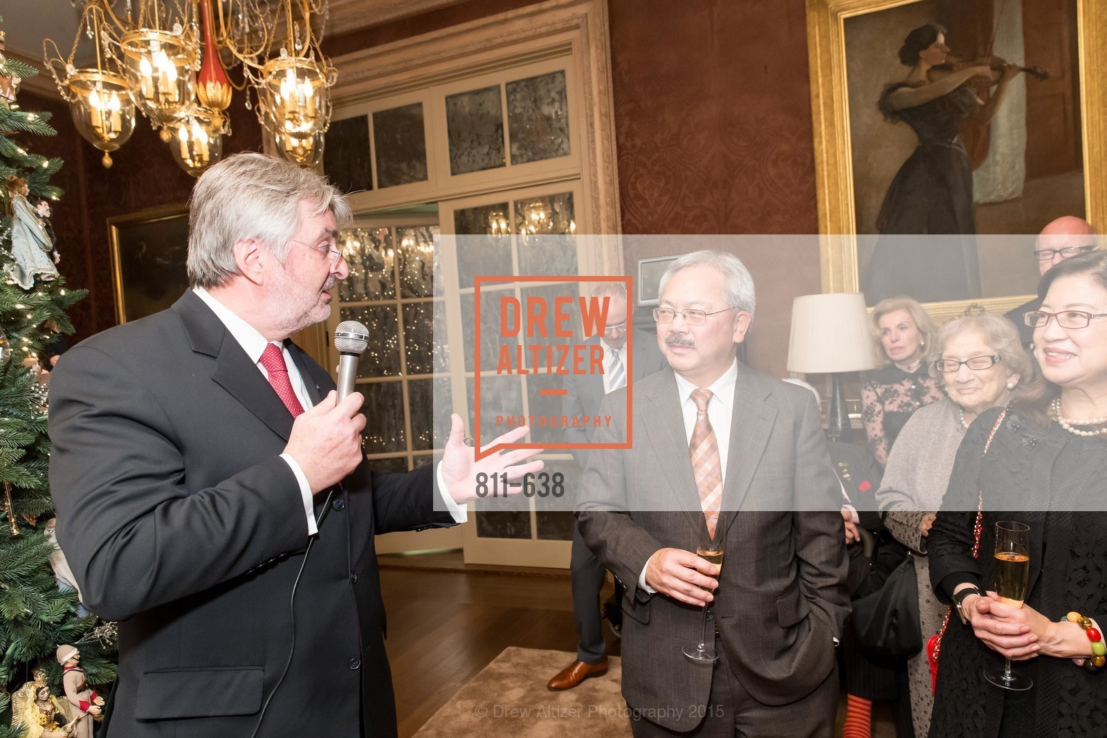 George Schmit, Ed Lee, San Francisco Mayor's Office of Protocol Christmas Party, Private Residence, December 9th, 2015,Drew Altizer, Drew Altizer Photography, full-service agency, private events, San Francisco photographer, photographer california