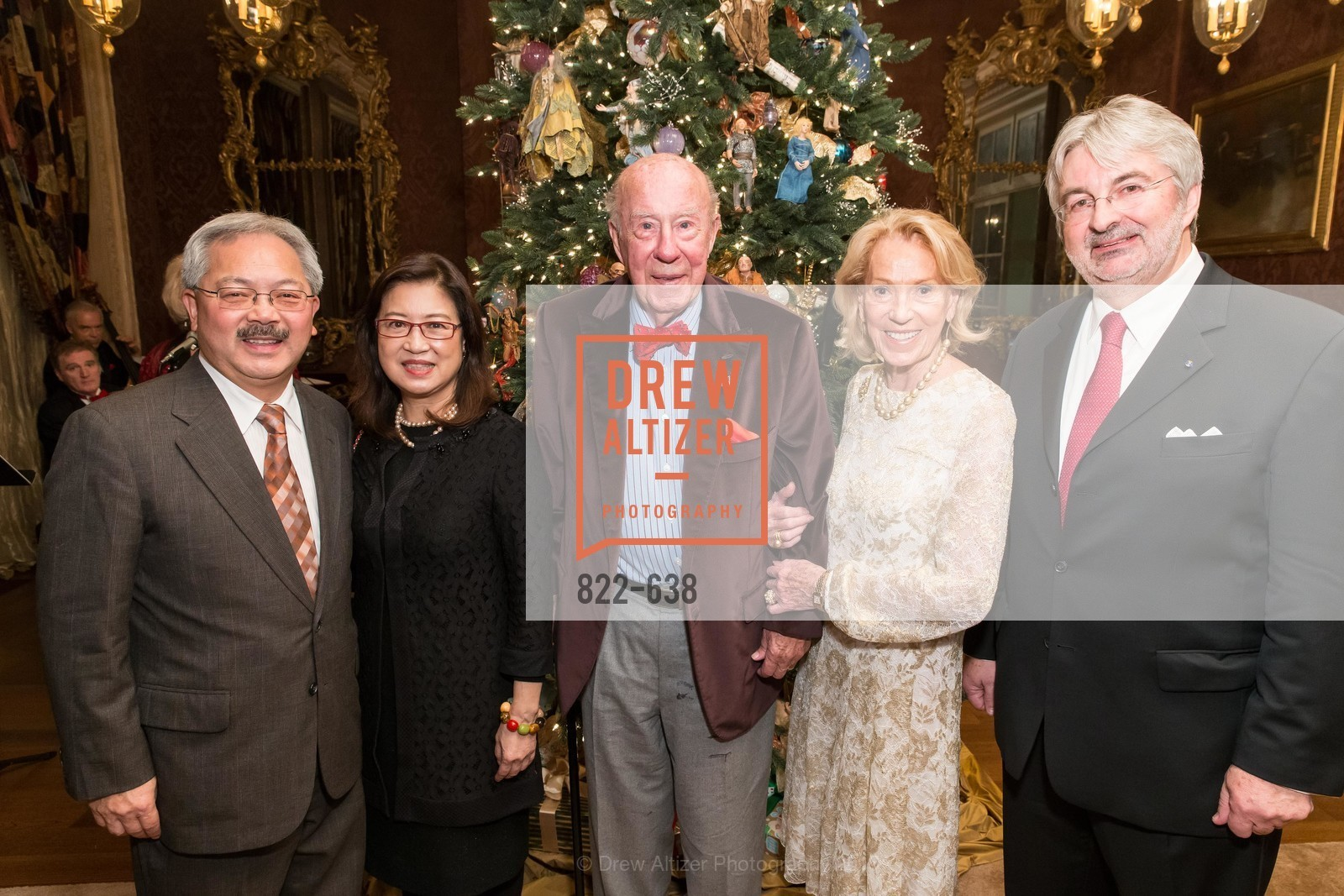 Ed Lee, Anita Lee, George Shultz, Charlotte Shultz, George Schmit, San Francisco Mayor's Office of Protocol Christmas Party, Private Residence, December 9th, 2015,Drew Altizer, Drew Altizer Photography, full-service event agency, private events, San Francisco photographer, photographer California
